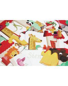 Noah's ark puzzel in mooie opbergdoos met XL monddoekje