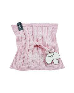 Baby's Only, gebreid speendoekje, roze, geen verzendkosten