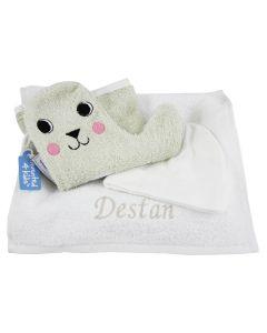 Baby Shower Glove op tray met naam