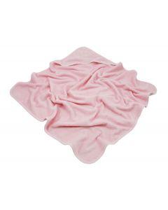 Badcape met naam geborduurd - roze