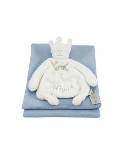 BamBam Prins tuttle op babydeken - lichtblauw