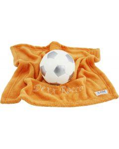 BamBam voetbal op orange knuffeldoekje
