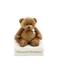 Bear Boris op babydeken
