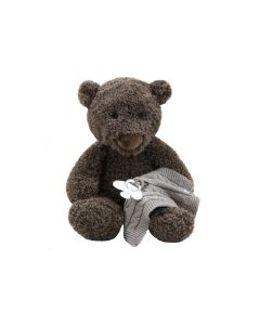 Bear Bor met speendoekje - taupe