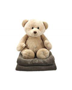 Babydeken met Teddybeer, taupe
