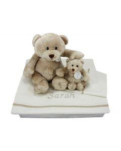 Beren op baby dekbedovertrek met naam