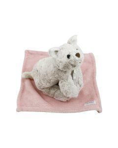 Cat Cathy op knuffeldoekje - rose quartz