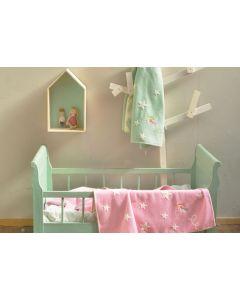 Babydeken met sterren en elfje - jade of roze