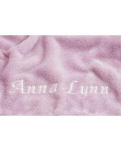 Kraamcadeau, Babydeken met naam - cashmere rose