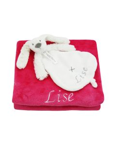 Babydeken met Rabbit Richie tuttle, pink