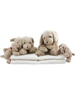 Tweeling Dog Harold op katoenen babydekens