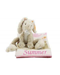 Babydeken 'Little Girl' met knuffelhaas