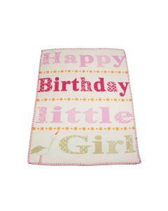 Geboortedeken met naam - Little Girl