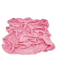 Kraamcadeau, zachte babydeken met naam - roze