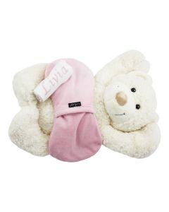 Ivory Bear met KipKep Woller warmtekussen - roze