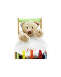 Duwkar met bewegende eendjes en teddybeer