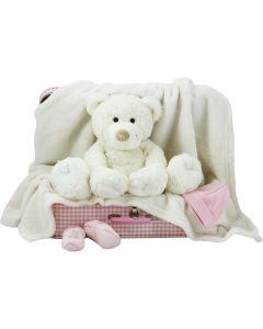 Speelgoedkoffer met Bear Boogy en babyklompjes