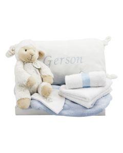 Lamb Locky op tray met babykussen