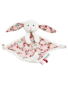 Knuffeldoekje konijn pink blossom met naam