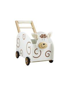 I'm Toy Loop/duwwagen Schaap met knuffeldoekje