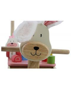 I'm Toy Loopwagen Konijn met knuffeldoekje