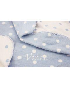 Katoenen Polka Dot deken - lichtblauw