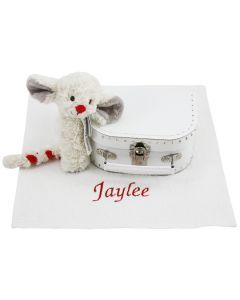 Speelgoedkoffertje met luiers en Mouse Milo rammelaar