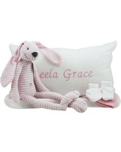 Pink Rabbit Reece tray met babykussen