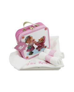 Puzzelkoffer Fleurus Lilou''s poppen op tray met babydeken