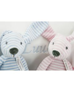 Rabbit Reece op babytray, blue en/of pink