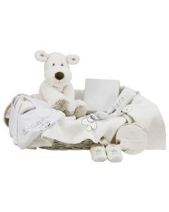 Exclusieve babymand met verzilverd doosje
