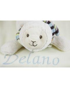 Seal Sienna op zachte babydeken