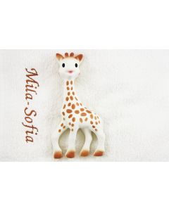 Sophie de Giraf met monddoekje met naam