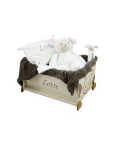 Speelgoedkist met Lamb Lugano en babykussen
