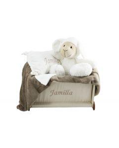 Speelgoedkist Jamilla met babynaam