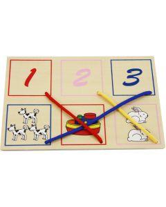 Rijgpuzzel met getallen - broer/zus kado