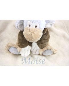 Sweet Monkey Mo op knuffeldoekje