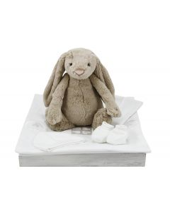 Bashful Bunny op babybeddengoed met naam