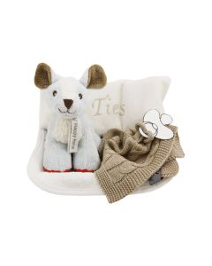 Tray met warmtekussen en Autumn Deer knuffel