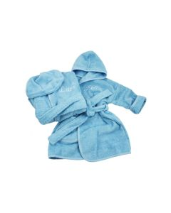 Tweelingbadjasjes met naam 1-2 jaar, diverse kleuren