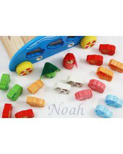Ark van Noach op katoenen babydeken