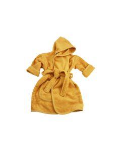 Badjas met naam geborduurd 1 -2 jaar, ochre