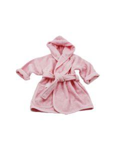 Badjas met naam geborduurd 1 - 2 jaar, roze