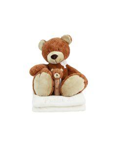 Bear Brownie op babydeken