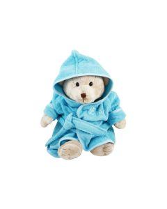 Bear Buster met badjas, aqua 0-1 jaar
