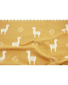 Lama babydeken van David Fussenegger, honey yellow