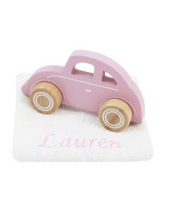 Little Dutch houten auto op monddoekje, roze