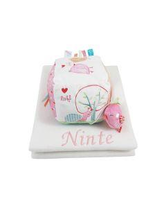 Babydeken met kubus Love Bird van Lief, roze