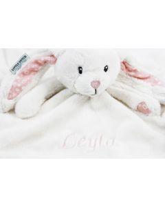 Little Dutch knuffeltuttle konijn met naam, adventure pink