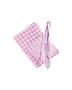 Lulujo reversible swaddle met naam, passion pink - geen verzendkosten
